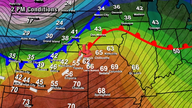 Cold Front On Weather Map.Strong Cold Front Maybe A Storm 41 Action Weather Blog